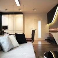 футуризм в декоре комнаты в светлом цвете фото