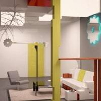 футуризм в стиле гостиной в необычном цвете фото