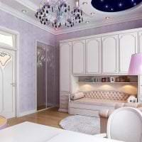 комбинирование сиреневого цвета в стиле спальни фото