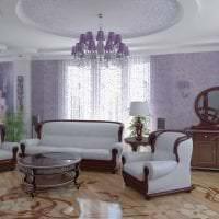 комбинирование сиреневого цвета в дизайне коридора фото