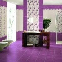 сочетание сиреневого цвета в декоре коридора картинка