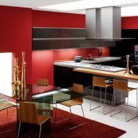 насыщенный бордовый цвет в интерьере коридора фото