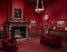 красивый бордовый цвет в стиле дома фото