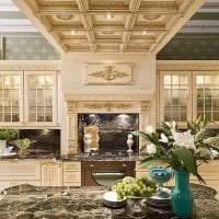 красивый дизайн элитной кухни в стиле арт деко фото
