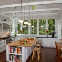 светлый интерьер элитной кухни в стиле модерн картинка