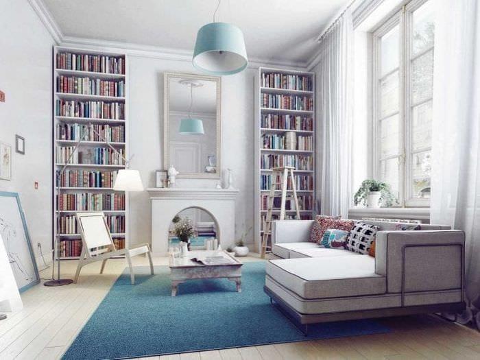 красивый стиль гостиной в шведском стиле