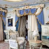 яркий стиль коридора в стиле рококо фото