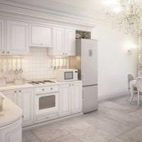 яркий стиль элитной кухни в стиле классика фото