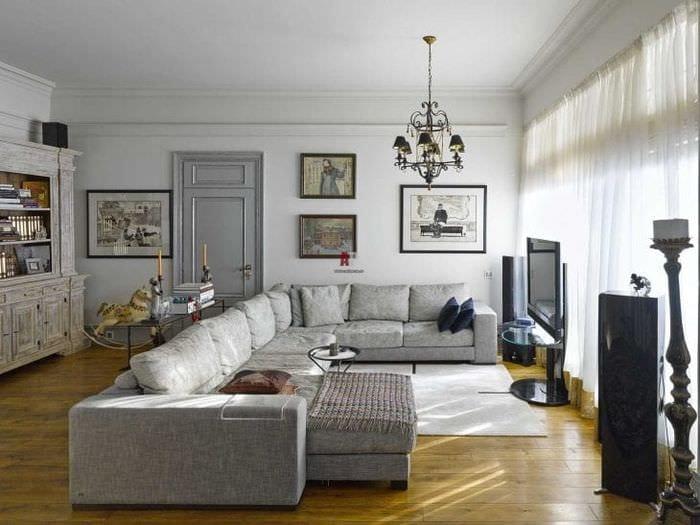 Оригинальность стиля фьюжн в жилой квартире на фото
