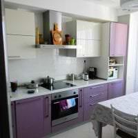 красивый дизайн кухни в фиолетовом оттенке картинка