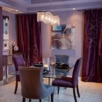 красивый стиль прихожей в фиолетовом цвете картинка