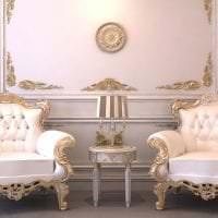 яркий интерьер спальни в стиле барокко фото
