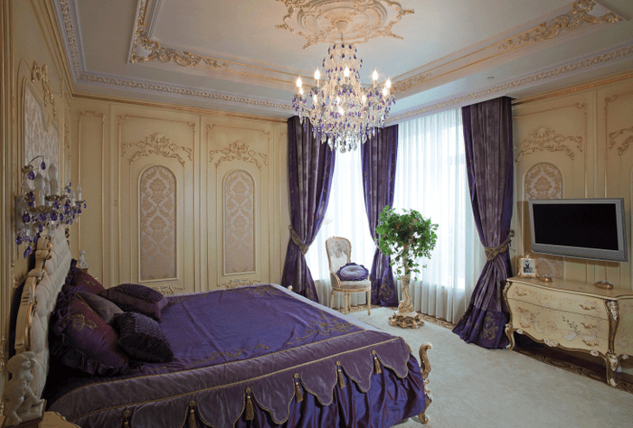 необычный дизайн квартиры в стиле барокко