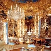 красивый интерьер гостиной в стиле рококо фото
