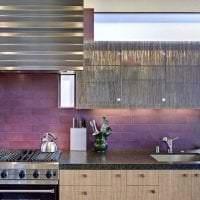 необычный стиль квартиры в фиолетовом цвете картинка
