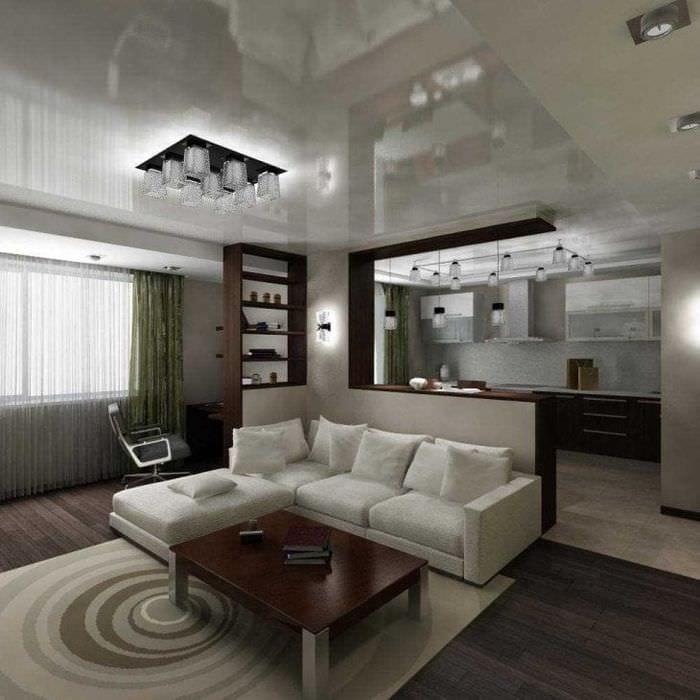 светлый эргономичный декор спальни