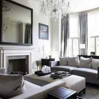 светлый эргономичный стиль гостиной картинка