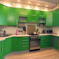 красивый фисташковый цвет в интерьере квартиры картинка