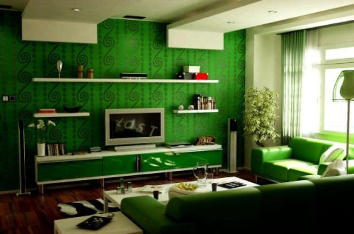 Сочетание цветов с зелёным фото