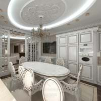 темный декор элитной кухни в стиле модерн картинка
