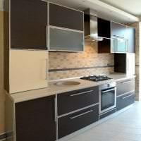 светлый интерьер кухни в цвете венге картинка