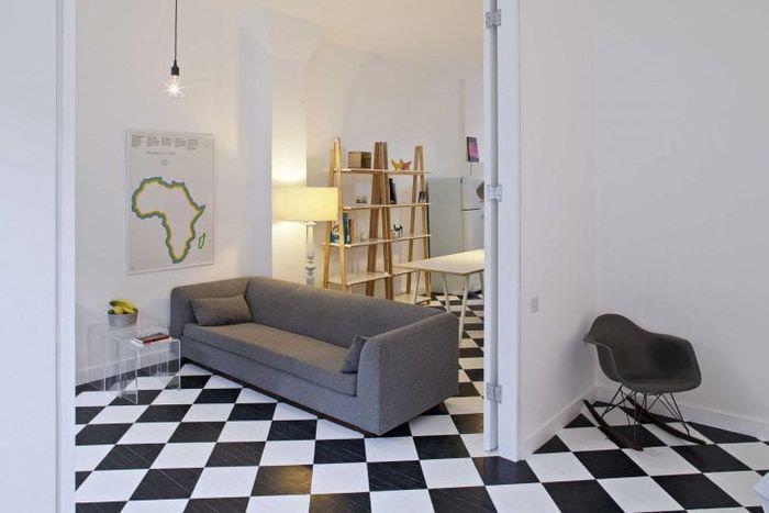 яркий стиль квартиры в стиле лофт