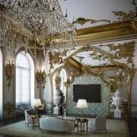 красивый декор коридора в стиле барокко картинка