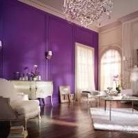 красивый декор кухни в фиолетовом цвете картинка