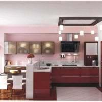 красивый бордовый цвет в декоре спальни фото