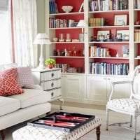 красивый бордовый цвет в интерьере кухни картинка