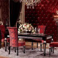 насыщенный бордовый цвет в дизайне дома картинка