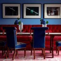 красивый бордовый цвет в интерьере квартиры фото