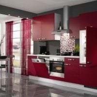 яркий бордовый цвет в дизайне коридора фото