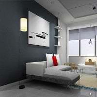 светлый дизайн гостиной в стиле авангард картинка