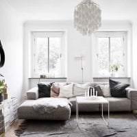 красивый дизайн кухни в шведском стиле фото