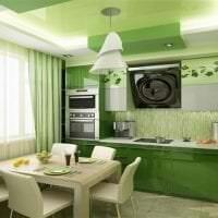 светлый фисташковый цвет в интерьере квартиры картинка