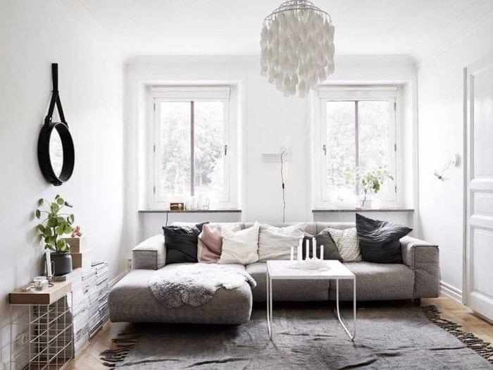 яркий дизайн кухни в шведском стиле