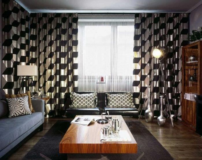 яркий дизайн спальни в стиле фьюжн