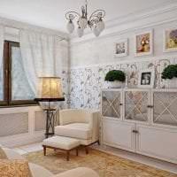 светлый дизайн гостиной в стиле прованс картинка
