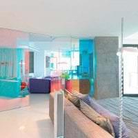 прозрачное стекло в дизайне кухни фото