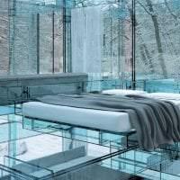 прозрачное стекло в стиле спальни фото