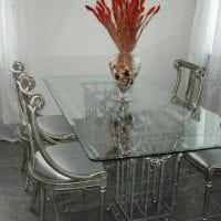 прозрачное стекло в дизайне коридора картинка