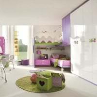 сочетание сиреневого цвета в интерьере спальни картинка