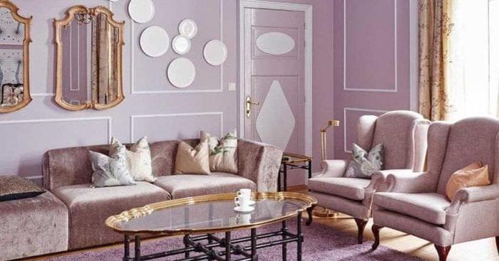 сочетание сиреневого цвета в стиле дома