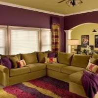 сочетание сиреневого цвета в декоре квартиры картинка
