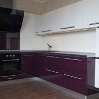 светлый стиль кухни в фиолетовом оттенке фото