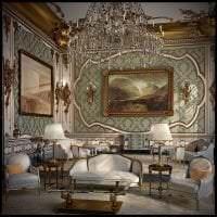 красивый декор гостиной в стиле рококо фото