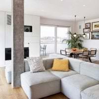 светлая белая мебель в дизайне квартиры фото