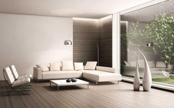 яркая белая мебель в интерьере квартиры