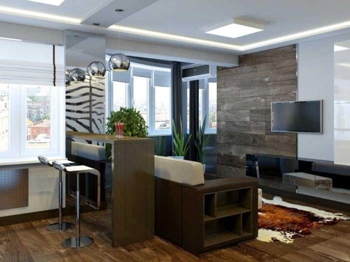 Особенности дизайна интерьера квартиры-студии: стили оформле.